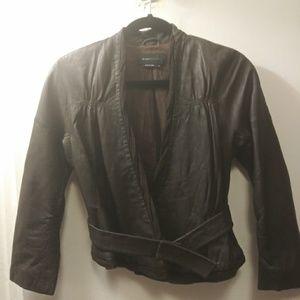 BCBG Brown Leather Jacket